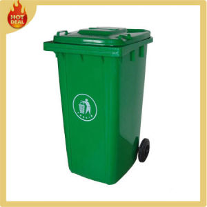 Plastic Garbage Can with Wheels pictures & photos