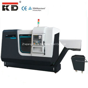 High Precision Metal Cutting CNC Slant Bed Lathe Machine Kdcl-28 pictures & photos