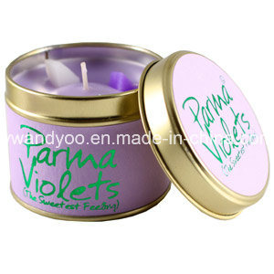 Romantic Aroma Scented Home Decorative Candles in Tin pictures & photos
