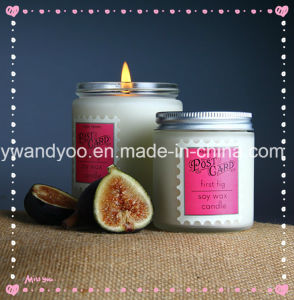 Scented Soy Home Candle in Jars Glass with Metal Lid