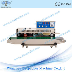 Continuous Potato Chips Bag Sealing Machine with Solid-Ink Coding pictures & photos