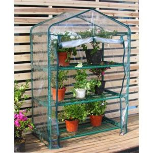 3 Tier Mini Greenhouse with PVC Cover