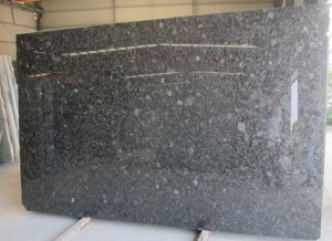 Natural Stone Volga Blue Ukraine Diamond Black Blue Granite Slabs pictures & photos