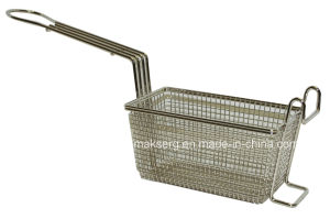 FDA Stainless Steel Commercial Fryer Basket pictures & photos