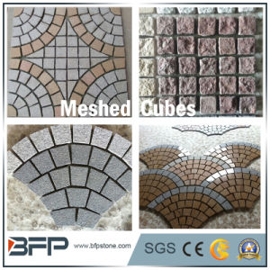 Natural Stone Granite Meshed Cubes for Outdoor Flooring/Garden/Driveway pictures & photos