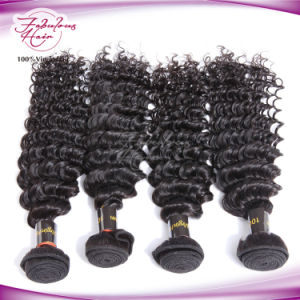 100% Human Brown Hair Color Brazilian Deep Wave Hair pictures & photos