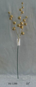 22′′ Golden Glight Plastic Ball Cuttings Twig for Christmas Decoration