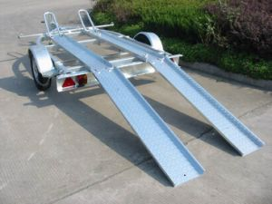 Motorcycle Trailer Cmt-34L with Loading Ramp Getting Ramp