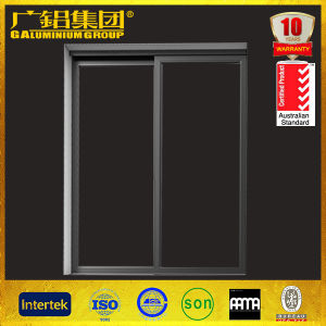 Aluminum Glass Double Sliding Door with Mosquito Screen pictures & photos