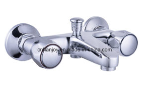 Wall Mounted Double Handle Bathtub Faucet (H57-102) pictures & photos
