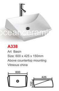 Ceramic Wash Basin (No. A338) Irregular Art Basin Best Design Good Quality pictures & photos