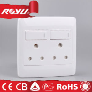 Big Size South Africa Type Double 16A Switched Socket pictures & photos