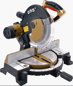 255mm 1350W Electric Saw, Steel / Woodcutting Sliding Miter Saw pictures & photos