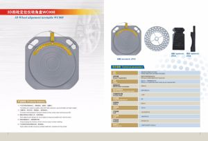 Four Wheel Positioning Special Four Point Clamp, Turntable, Brake Fixer, Steering Wheel Lock pictures & photos