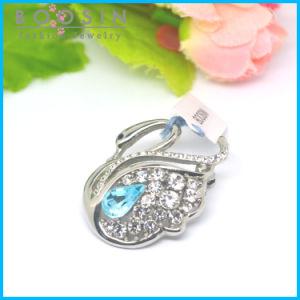 Elegant Crystal Swan Metal Brooch Wholesale #51179 pictures & photos