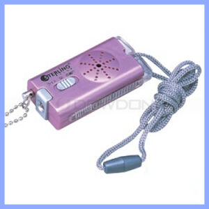 Pink 135dB Aloud Lady Personal Alarm with LED Light and Lanyard pictures & photos
