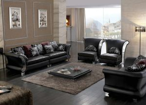 Home Furniture Living Roos Sofa Geniune Leather Sofa Sets Y080 pictures & photos