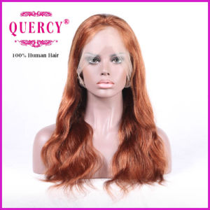Fashion Color Natural Wave 100% Human Virgin Hair Front Lace Wig pictures & photos