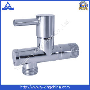 Polished Brass Angle Valve with Zinc Handle (YD-5036) pictures & photos
