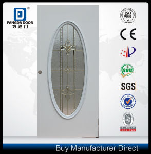 Big Oval Glass Exterior Interior Steel Metal Iron Door pictures & photos
