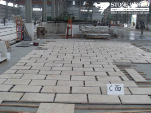 Natural Stone Yellow Marbke Tile for Flooring pictures & photos