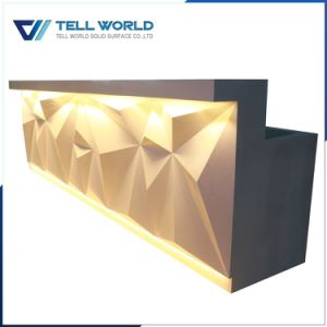 Tw Artificial Marble Office Reception Desk pictures & photos