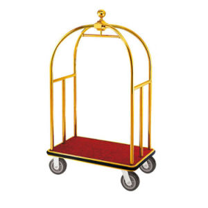 Stainless Steel Hotel Housekeeping Luggage Plate Trolley for Sale pictures & photos