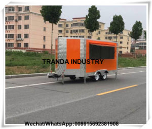 Philippines Mobile Food Canteen Vending Galvanized Enclosed Catering Van pictures & photos