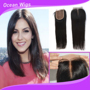 Brazilian Virgin Remy Hair Silk Top Lace Closure (LC-028) pictures & photos