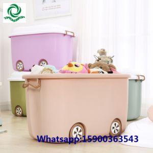 70L Large Children′s Cartoon Plastic Toy Storage Box with Lockers pictures & photos