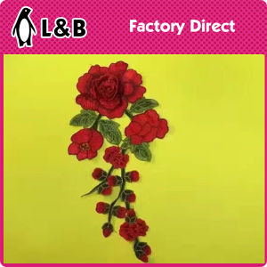 New Design Popular Embroidery Flower Patch pictures & photos