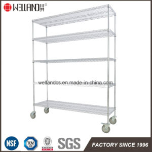 High Quality Chrome Metal Wire Supermarket Gondola Shelving Factory Price pictures & photos
