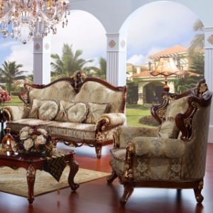 Wooden Sofa with Table for Living Room Furniture (697) pictures & photos