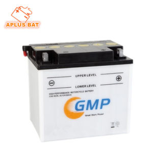 Top Rank 12V 28ah Starting Flooded Rechargeable Battery for Motorcycle pictures & photos