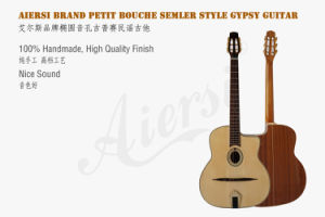 Free Case and Strap Archtop Acoustic Gypsy Jazz Guitar (GP02) pictures & photos