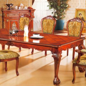 Classic Dining Table with Sofa Chairs for Home Furniture (8118) pictures & photos