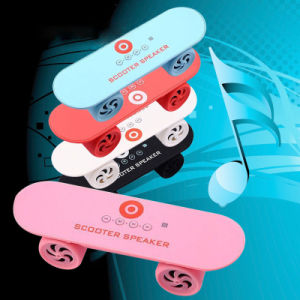 Skateboard Wireless Bluetooth Speaker TF for iPhone Tablet PC pictures & photos
