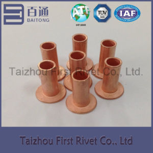 8X20mm Copper Plated Flat Head Full Tubular Steel Rivet pictures & photos