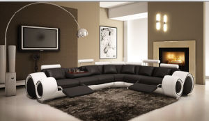 Modern Leather Sofa for Living Room with Genuine Leather pictures & photos