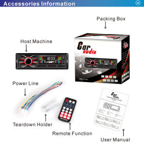 Fixed Panel Car Accessory with MP3 Audio Bluetooth and FM USB TF Card Player pictures & photos