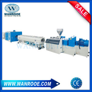 Conical Twin Screw Extruders PVC Granular Machine Plastic Extruder Line pictures & photos
