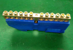 Terminal Block with Earth Plate and Screw on One End pictures & photos