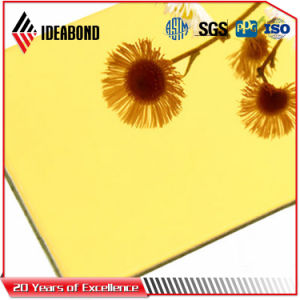 Ideabond 4mm Gold Mirror Finish Signboard Aluminum Composite Panel (AE-202) pictures & photos