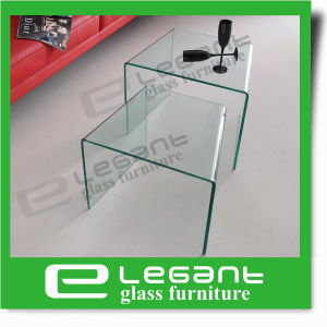 Simple Grey Curved Nesting Glass Coffee Table pictures & photos