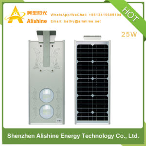 4m 5m Pole 25W LED Solar Street Light with Time Control pictures & photos