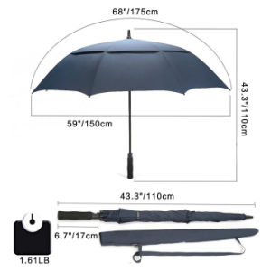 Wholesale Automatic Double Layer 30inch Windproof Golf Umbrella pictures & photos
