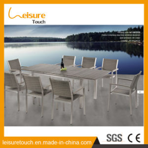 High Quality Aluminum Polywood Fabrication Modern Dining Table and Chair Outdoor Garden Patio Swimming Pool Furniture pictures & photos
