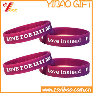 Custom Design Silicone Wristband, Silicon Bracelet (YB-SM-05) pictures & photos