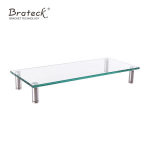 Adjustable Tempered Glass Surface Monitor Riser, Monitor Riser Stand