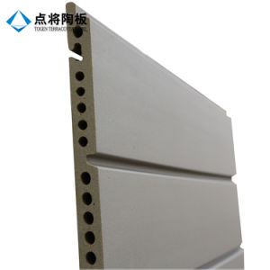 18mm Light Grey Verticaled Facade Terracotta Cladding for Exterior Wall pictures & photos